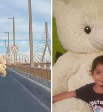 """papa cargo un oso por toda la ciudad para su hija - """"Por hacer feliz a su hija"""": Padre cruzó la ciudad cargando un oso de peluche gigante en su moto"""
