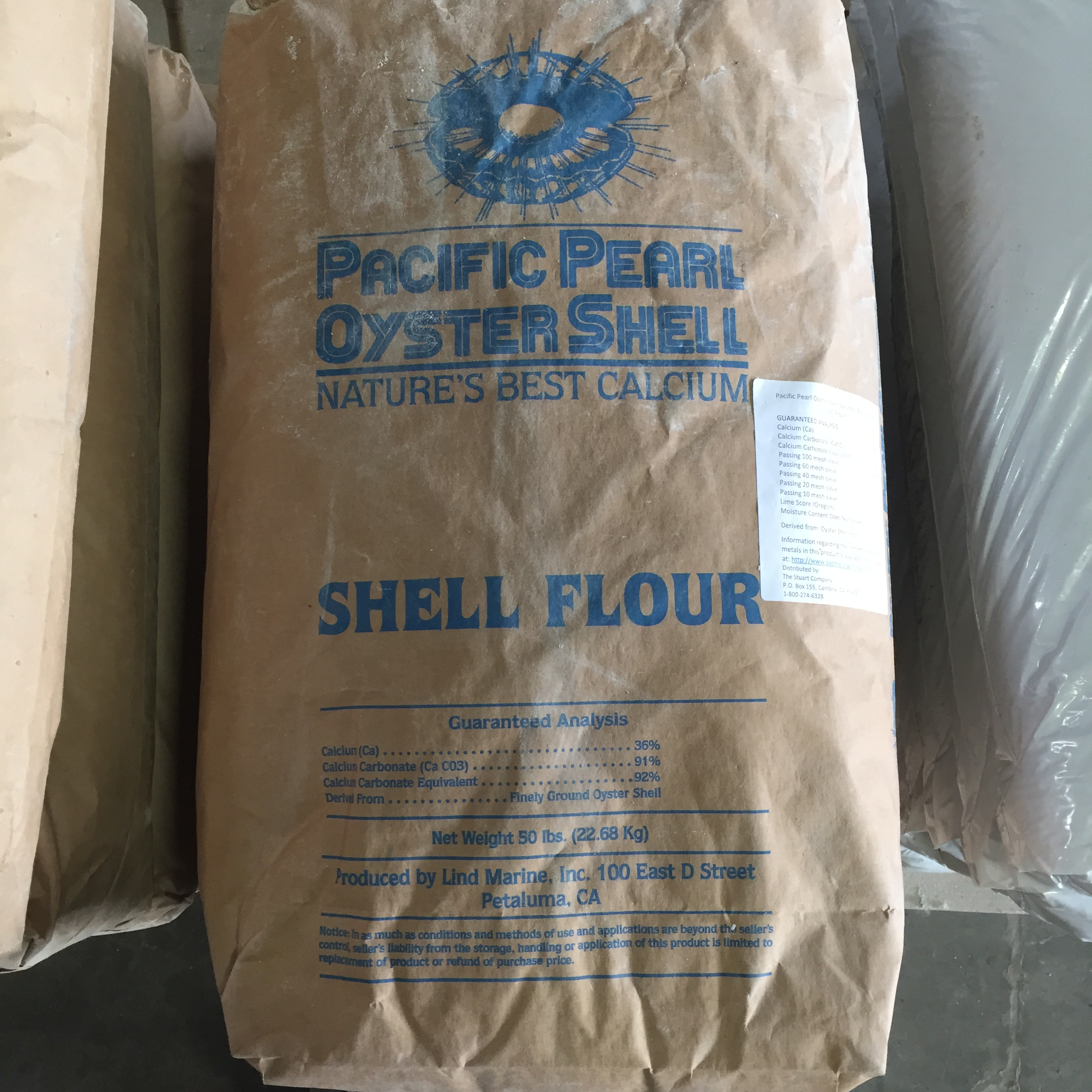 50 Oyster Shell Flour Concentrates Inc