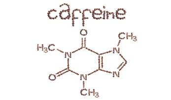Foto van caffeine chemische structuur