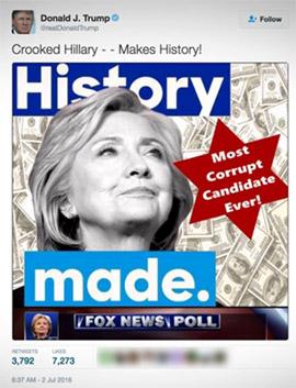 Trump gg Clinton mit Judenstern