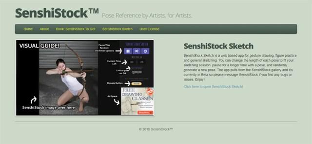 SenshiStock webapp gesture tool