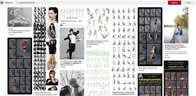 Pinterest gesture pose pictures