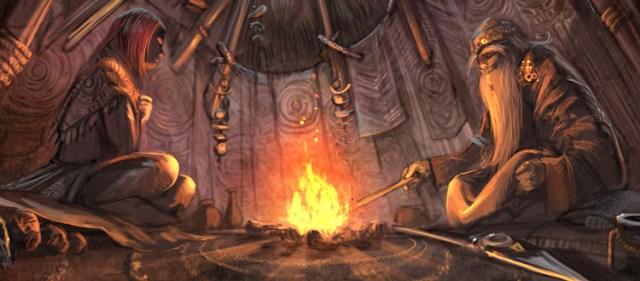 Campfire concept art scene