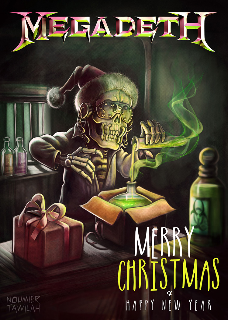 merry christmas megadeth card