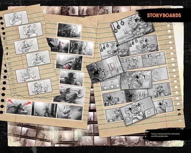 noumier tawilah storyboard art