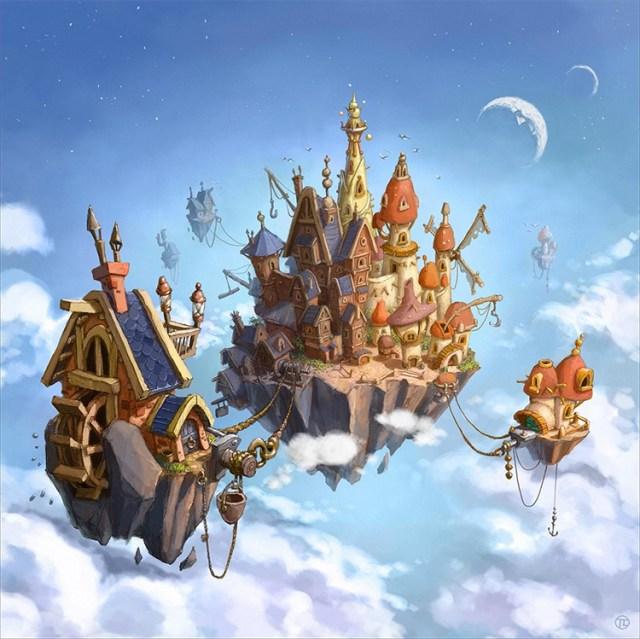 fantasy world game cover tomek larek