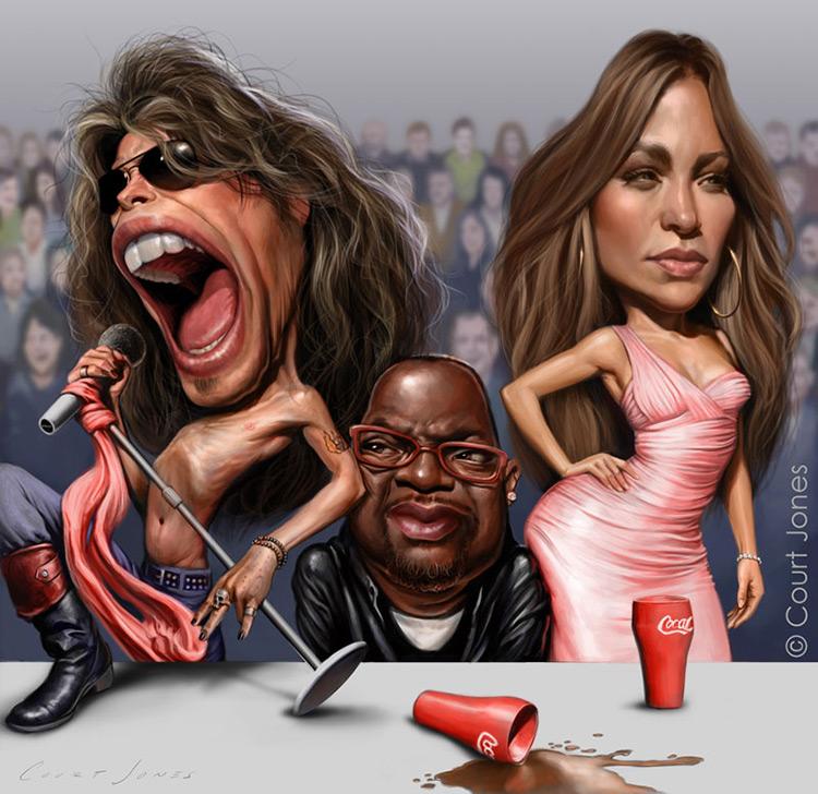 court jones american idol caricature