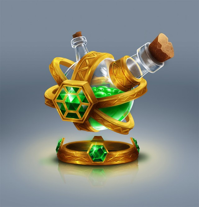 green flask potion concept