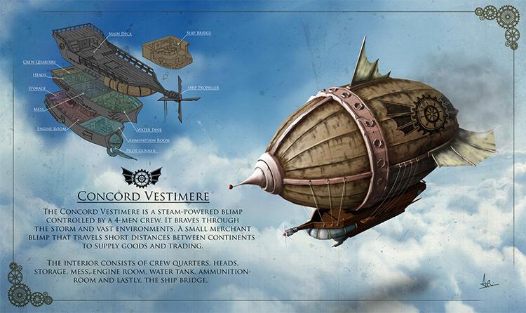 concord airship artwork