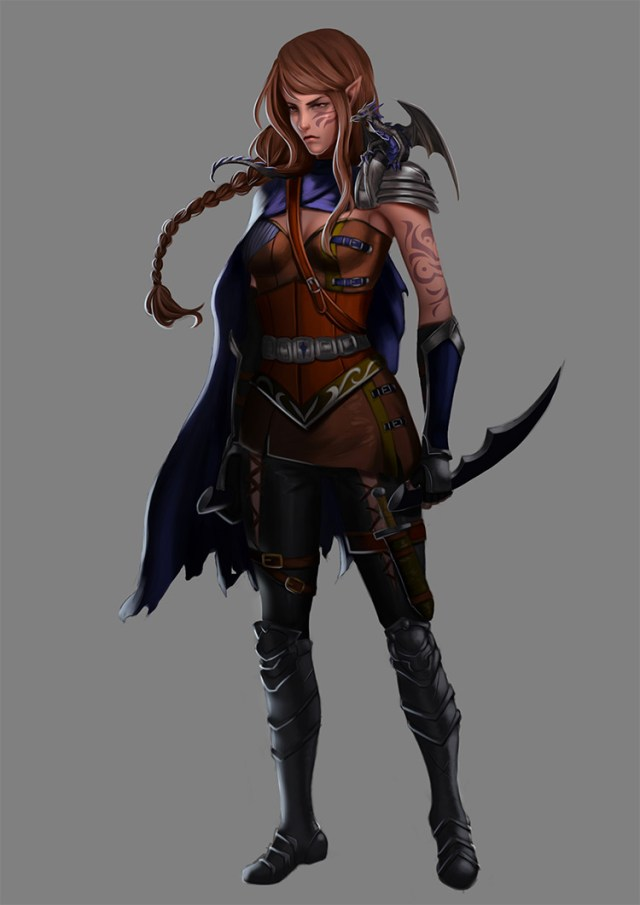 elf rouge character concept