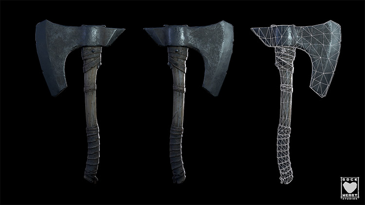 simple axe weapon concept art