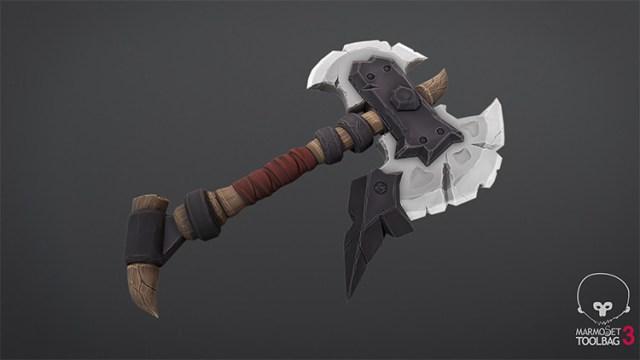 one-handed battle axe
