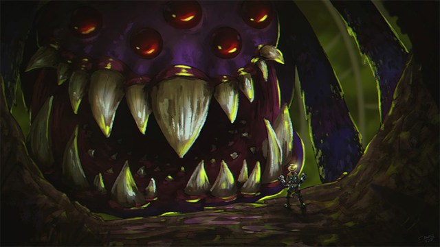 Purple Cave Creature