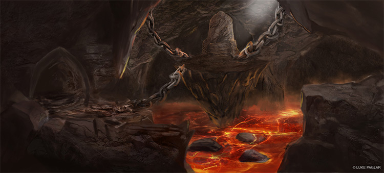 Hell environment cave concept