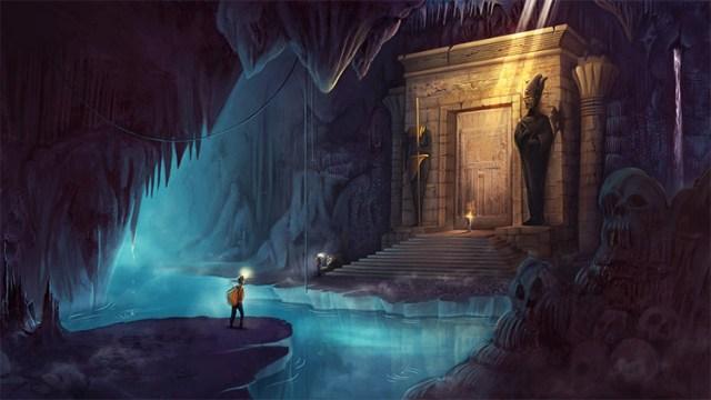 Ancient Cavern Environment Artwork
