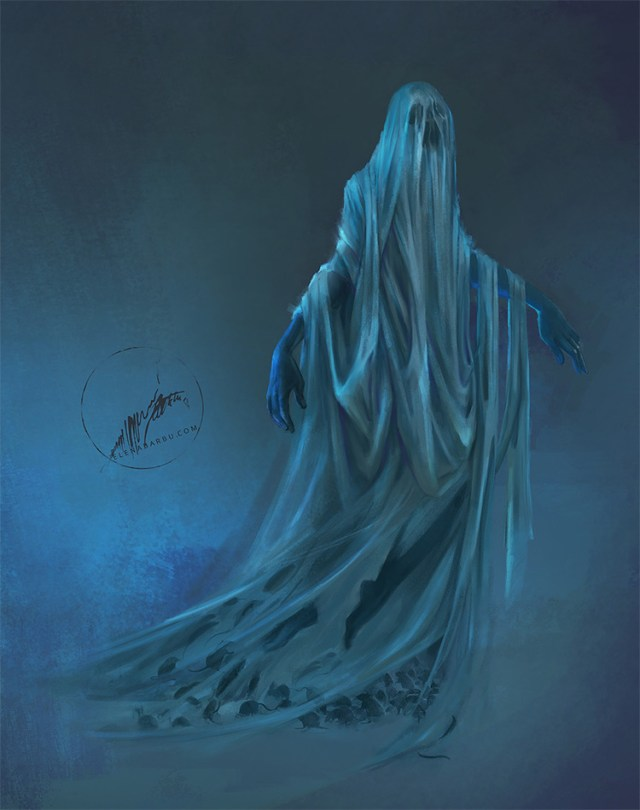 Wraith with a drape creature concept art
