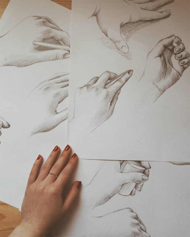 Detailed hand drawings