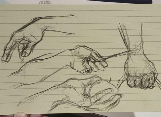 More sketchbook hands