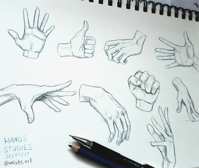 Sketchbook hand practice