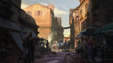 concept medieval market street fantasy environment marketplace towns buildings realm inspiration conceptartempire