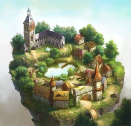 medieval concept town fantasy towns buildings village castle game park mountain inspiration artwork conceptartempire landscape cartoon map island 2d games