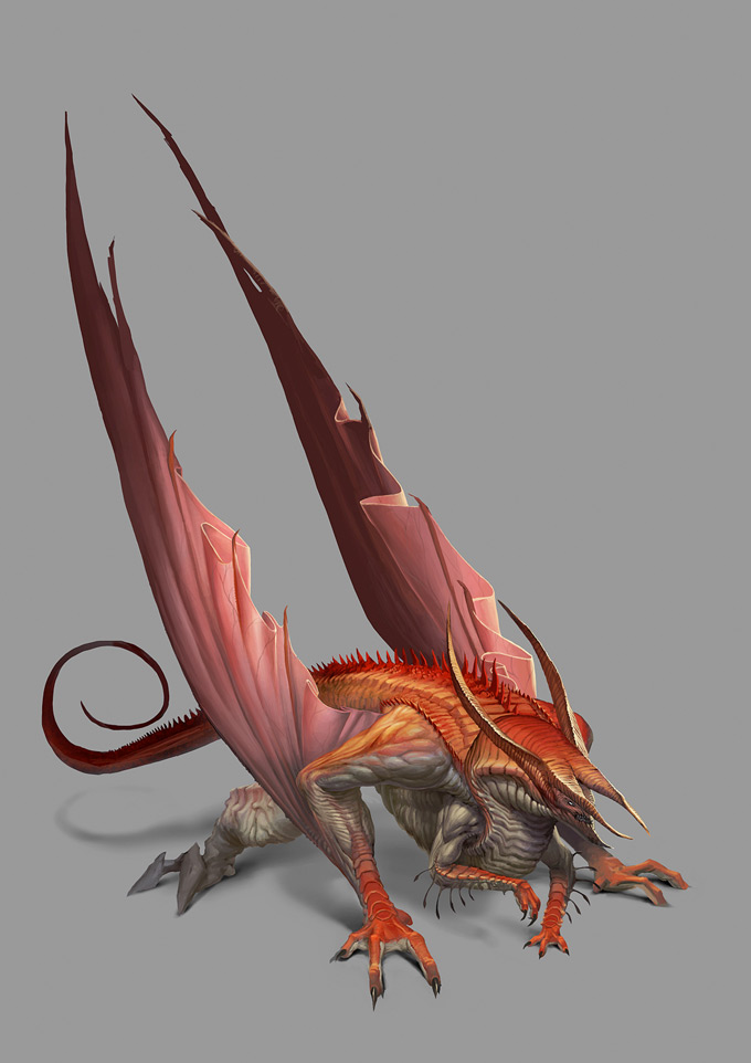 44 Enthralling Examples of Dragon Concept Art and