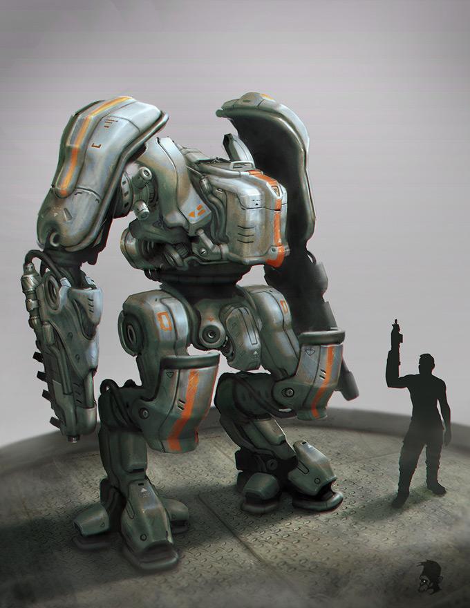Robot Concept Art by Miro Petrov