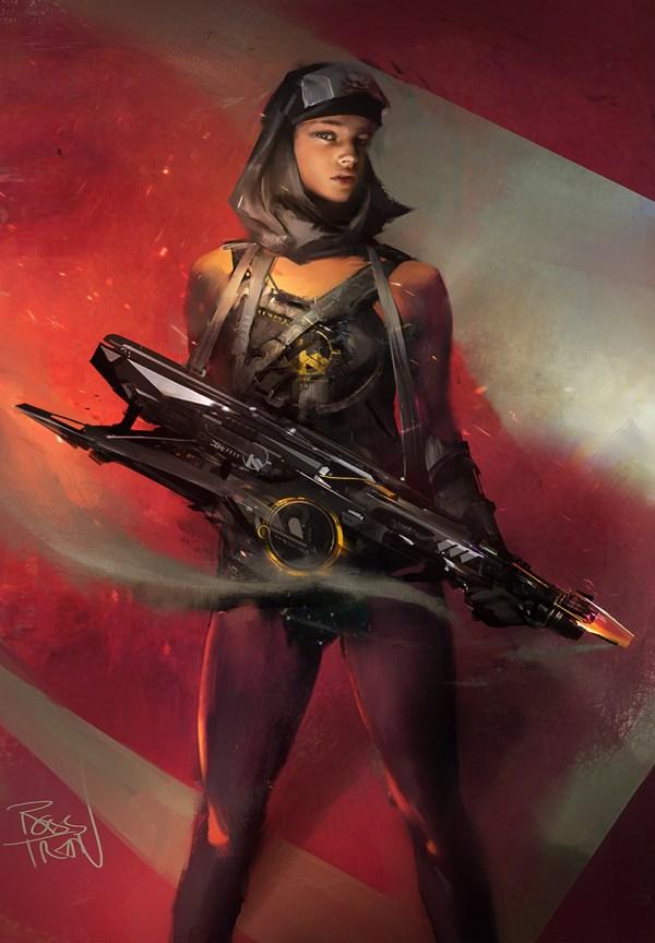 Sci-Fi Character Concept Digital Art