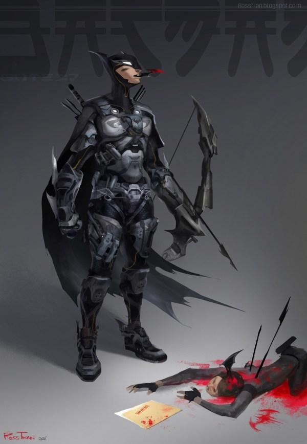 Batman Concept Art Futuristic