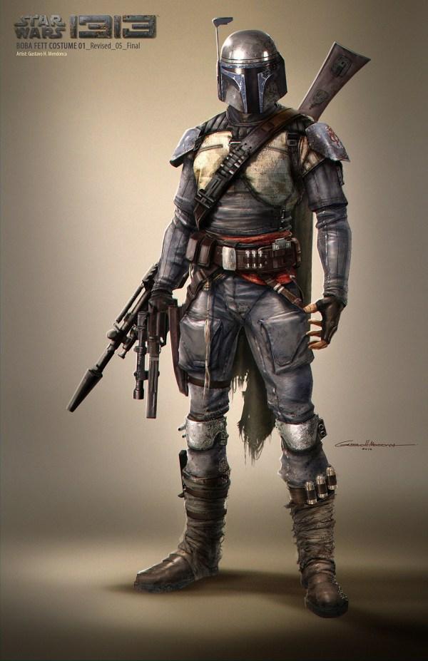 Star Wars 1313 Boba Fett Concept Art