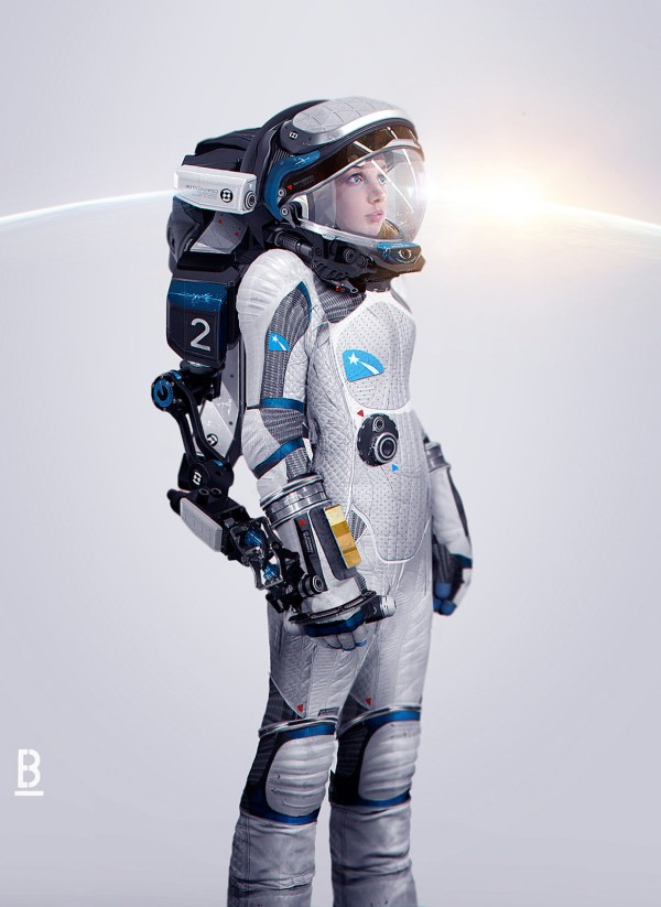 Concept Art And Illustrations Of Astronauts