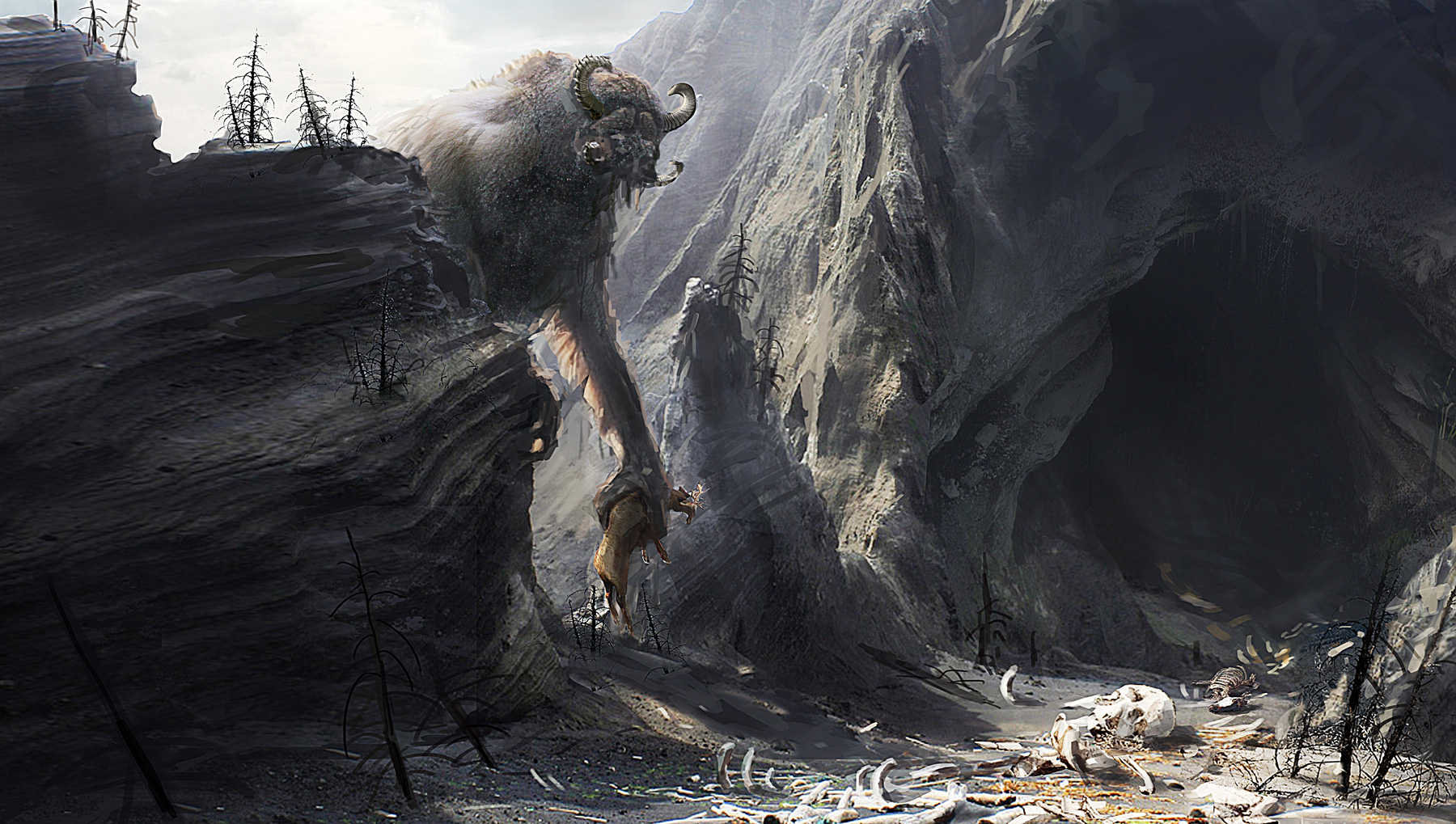 Mythical Creatures In The Fall Wallpaper Fall Of Gods Concept Art World