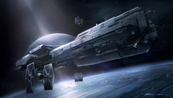 Star Wars Spaceship Concept Art