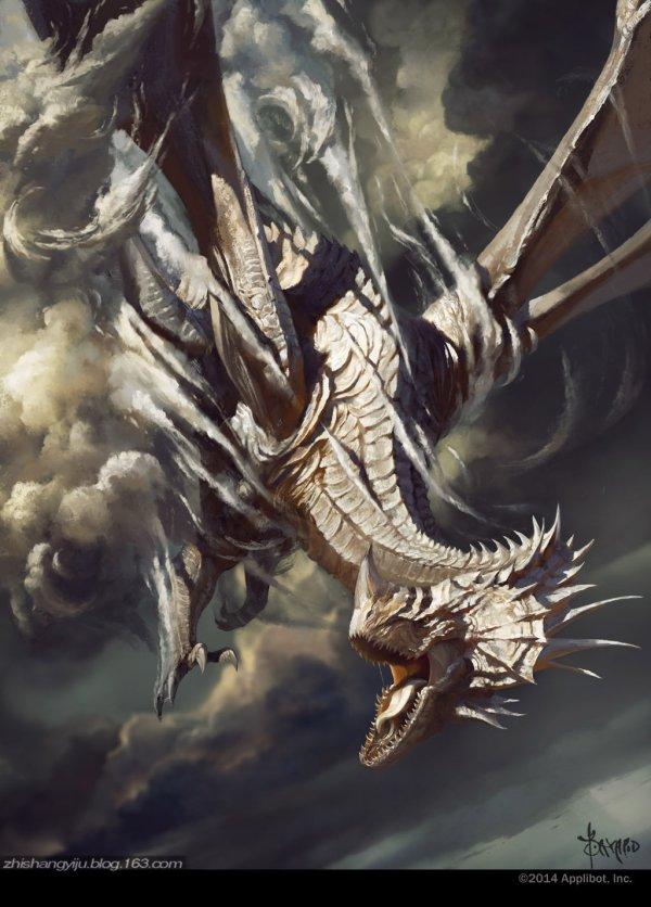 Silver Dragon Art