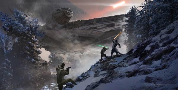 Star Wars Force Awakens Concept Art Industrial Light & Magic World