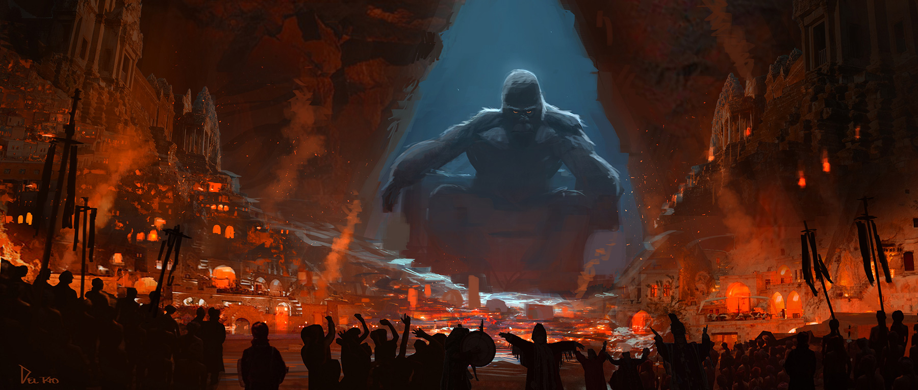 Lord Of The Rings Wallpaper Quotes Kong Skull Island Concept Art By Eddie Del Rio Concept