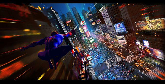 Marvels Spider Man PS4 Visual Development Art By Julien Renoult Concept Art World