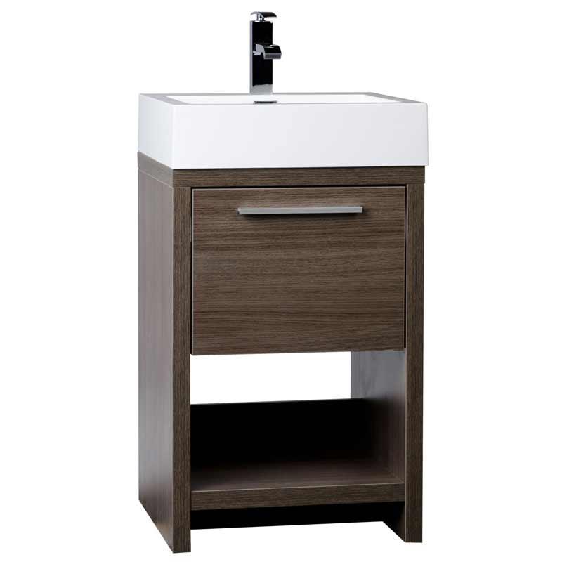 Modern Bathroom Vanity Set Grey Oak Free Shipping Tnl500