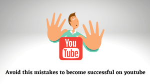 mistakes of amateur youtuber