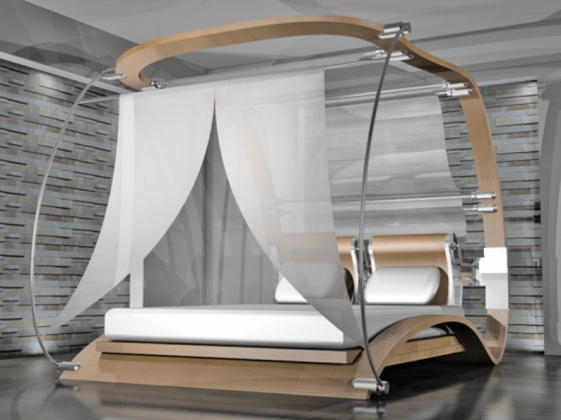 Il concept di un letto a baldacchino di Sergio Pansini  conceptbook