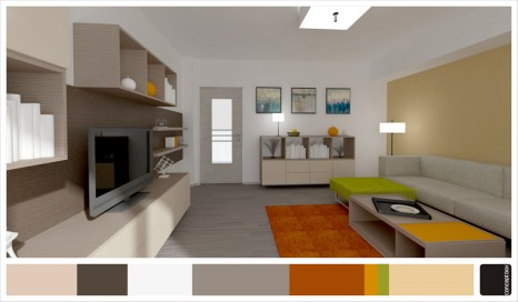 apartament tineretului_living