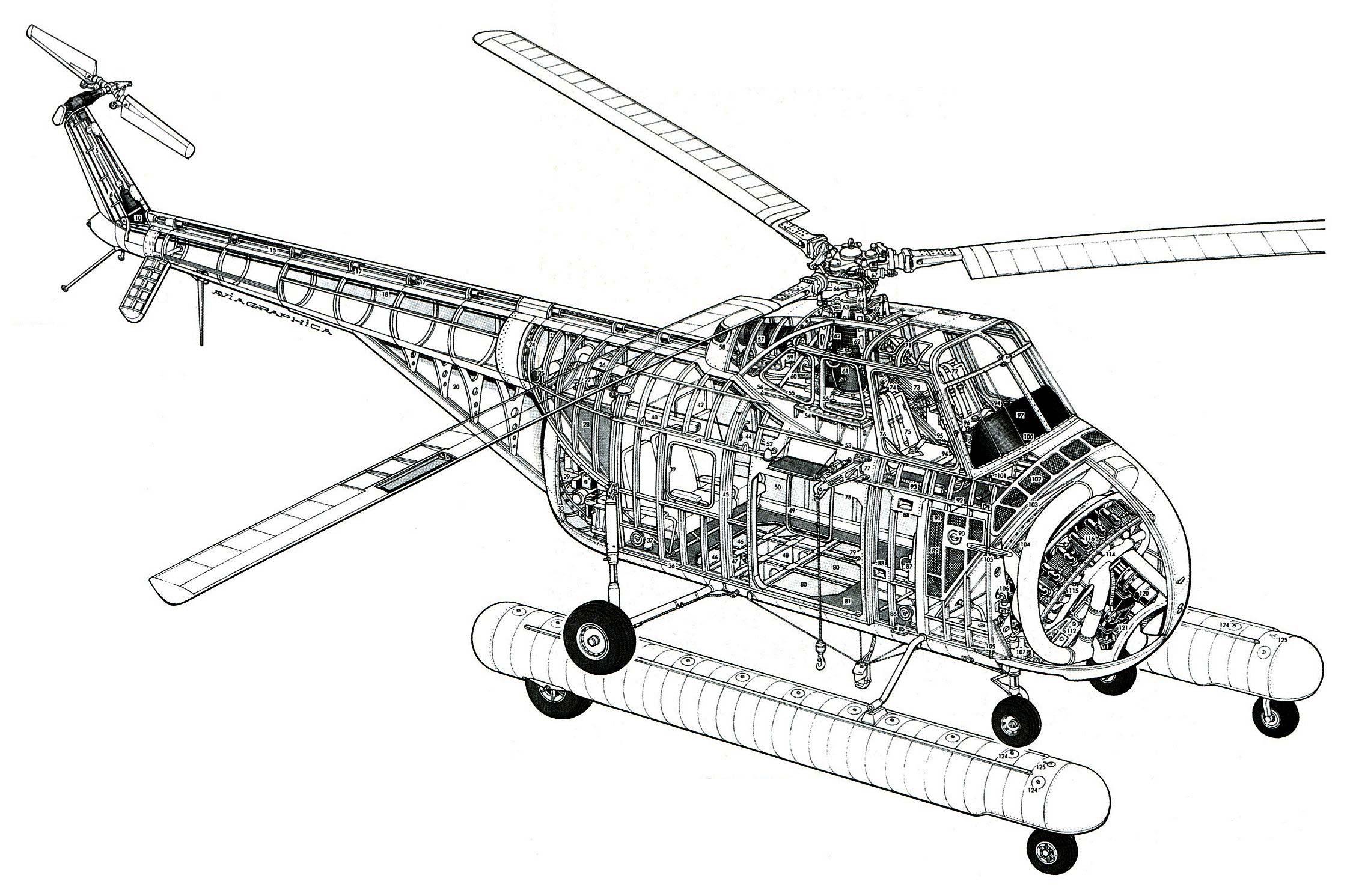Helicopter Sikorsky H 3