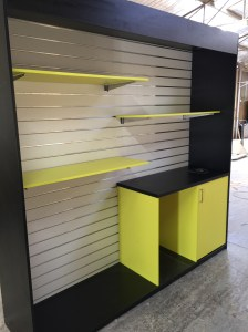 Custom slat wall diusplay unit