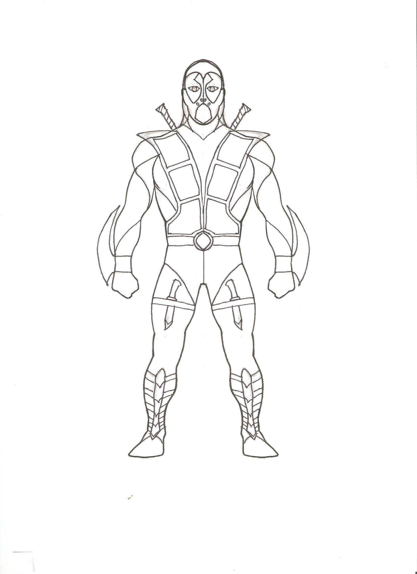 Male Character Concept Art Sketches Sketch Coloring Page