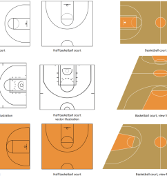 basketball court diagram and basketball positions [ 1205 x 791 Pixel ]