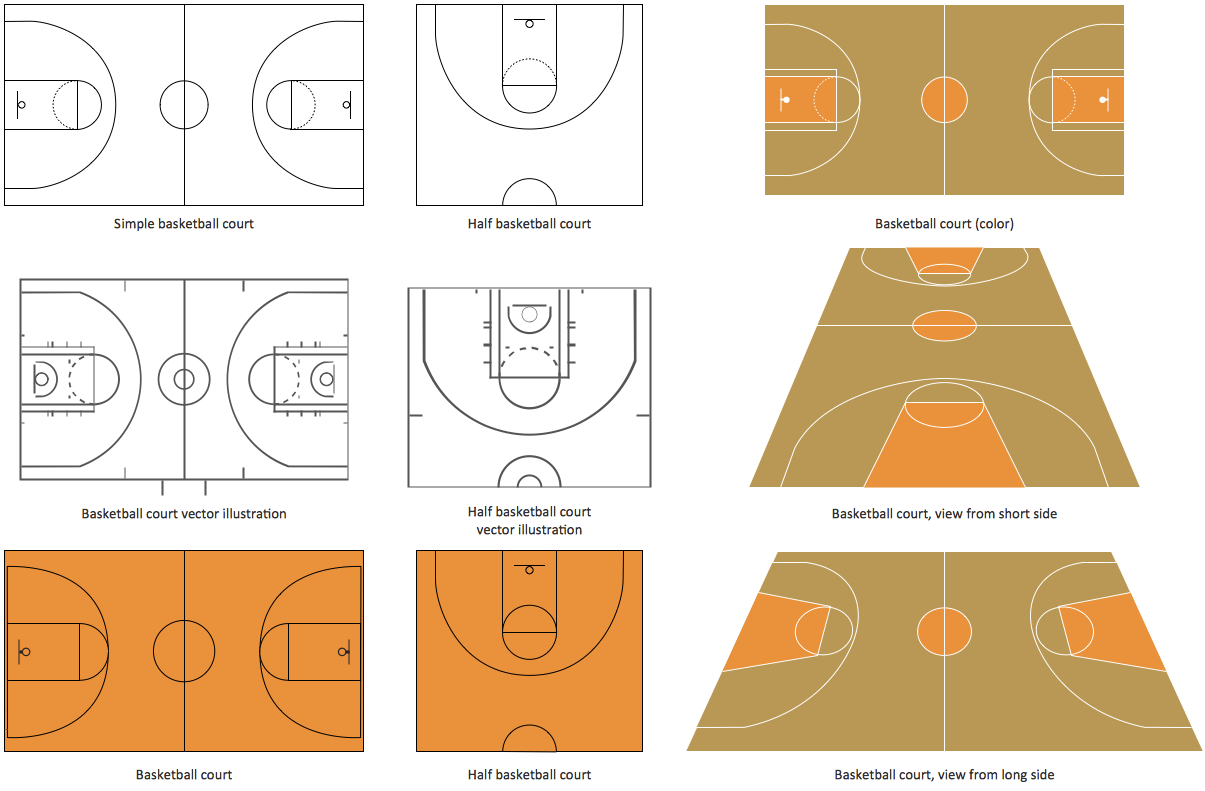 hight resolution of design elements basketball courts