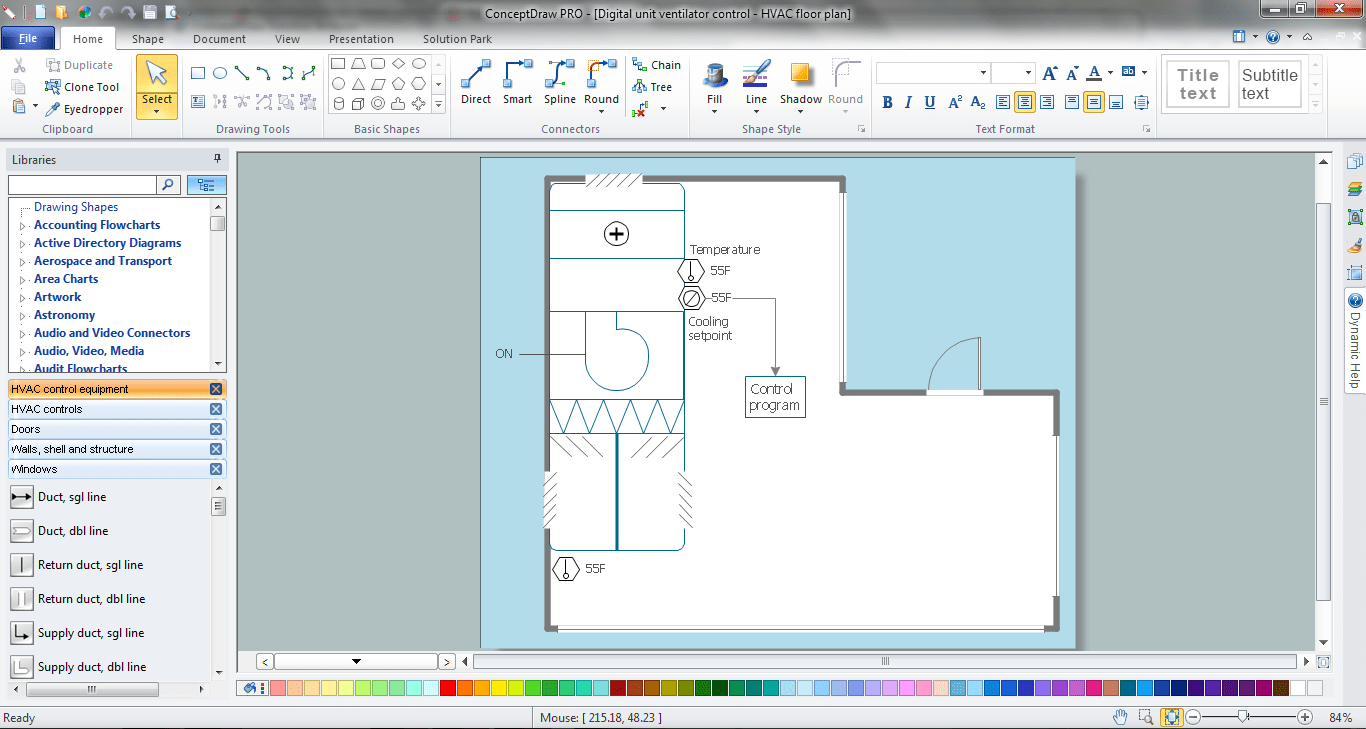 hight resolution of hvac marketing plan simple hvac control drawings hvac marketing plan in conceptdraw diagram p u003e