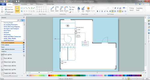 small resolution of hvac marketing plan simple hvac control drawings hvac marketing plan in conceptdraw diagram p u003e