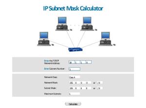 IP Sub mask calculator  Template | Telemunication works  Vector stencils library