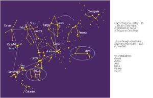 Constellation Chart   Orion work   Illustration